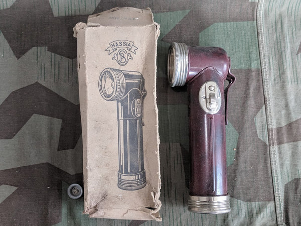 Original WWII German Hassia Flashlight in Box