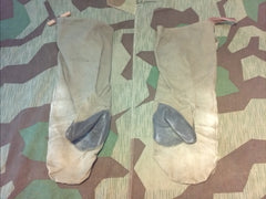 Original WWII German Motorcycle Mittens w Rb. Nr.