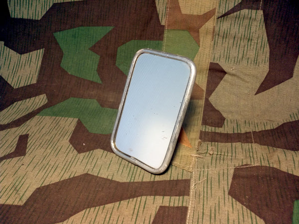 Original WWII German Personal Mirror w/ Aluminum Trim