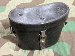 Original WWII German Repaired Leather Case for 6X30 Binoculars