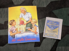 Original WWII German Saccharin Artificial Sweetener Packet and Booklet