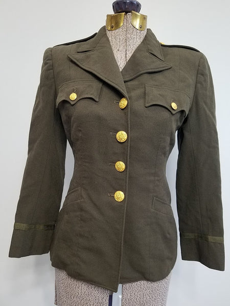 Original WWII Women's WAC / ANC Officer's Jacket Uniform 8R