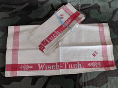 Original WWII or Pre-war 1930s German Linen Wisch Tuch Wash Cloth