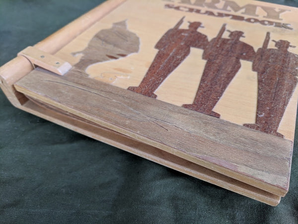 Wooden US Army Scrapbook