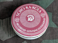 Post-WWII German Scho-Ka-Kola Chocolate Tin