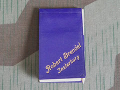 Pre-WWII German Robert Brendel Advertising Notebook with Pencil
