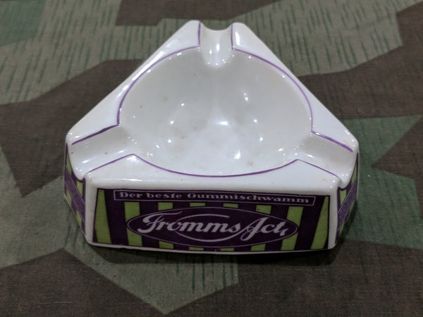 Pre-WWII 1930s German Fromms Condom Triangular Ashtray