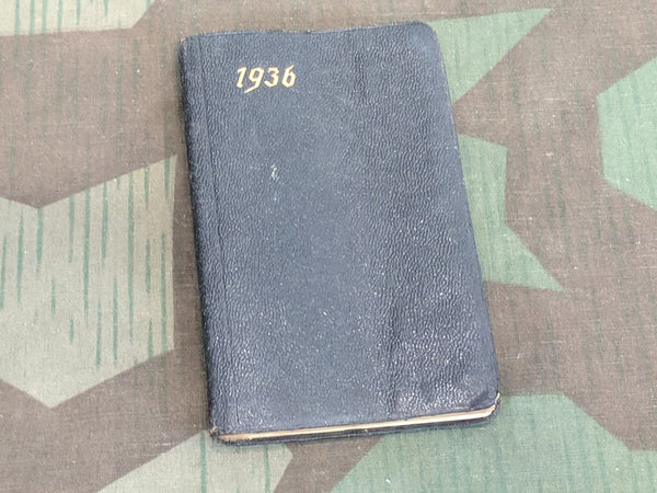 Pre-WWII German 1936 Pocket Calendar Book