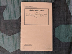 Pre-WWII German Quittungsbuch Receipts Book