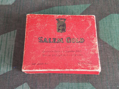 Salem Gold Cardboard Cigarette Box