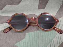 Repro WWII German Tortoise Shell Round MG Blendschutzbrille Sunglasses