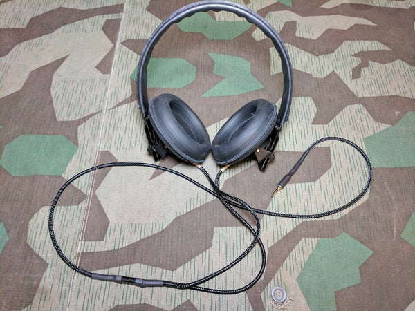 Repro WWII German Panzer Headset w/ Modern Headphone Jack
