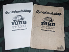 WWII German 1941 Ford V3000s Reproduction Service Manual