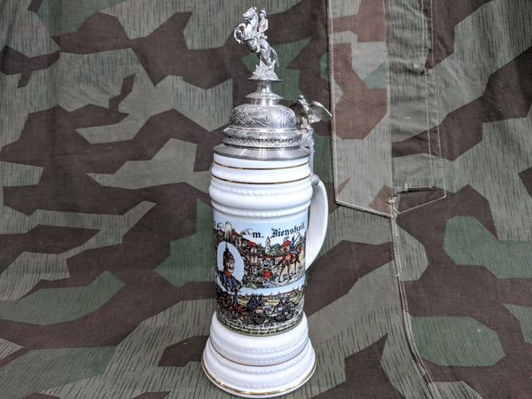 Reproduction German Fancy Military Krug Beer Stein