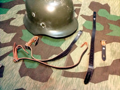 Reproduction WWII German Helmet Chin Strap Leather