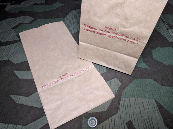 Reproduction WWII German Ration Bags For Panzer Tank Crews Wehrmacht