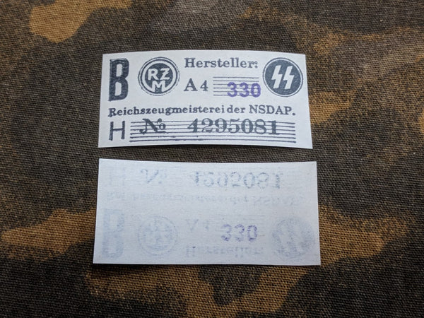 Reproduction WWII German SS RZM Tags