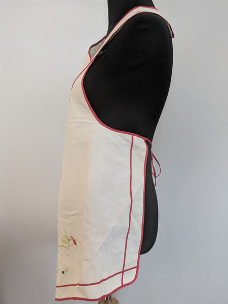 Apron with Traditional Embroidery