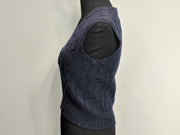 Original Wiener Modell Blue Sweater Vest Size 48
