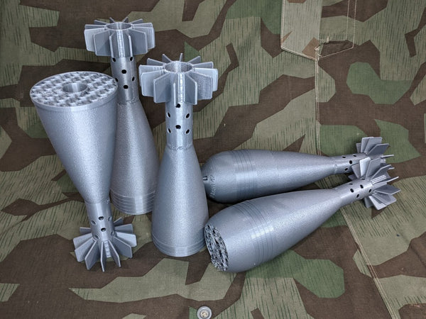 8cm Mortar Rounds Just the Tails Defects