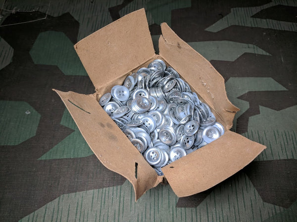 Original Army Trouser Buttons Dished Metal 18mm 4 Hole