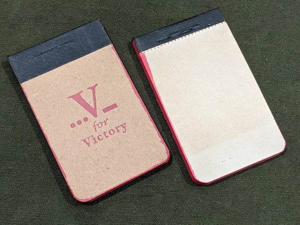 V for Victory Tiny Notebook WWII Sweetheart 1940s