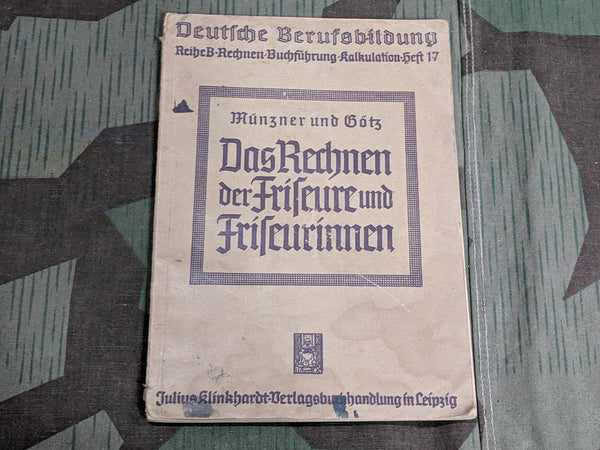 WWII German 1941 Accounting for Barbers and Hair Stylists Book