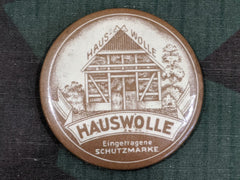 Vintage 1930s 1940s German Hauswolle Cotton Advertising Mirror
