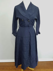 "Vintage 1940s Blue ""New Look"" Dress (Fading)"