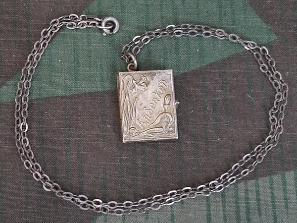 Vintage 1940s German Andenken Photo Locket Necklace