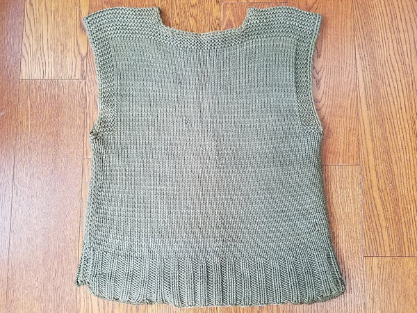 "Vintage 1940s WWII US Sweater Vest Knit ARC Red Cross (34""-38"" Chest)"