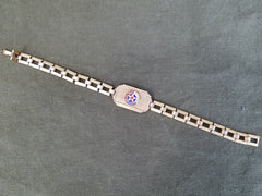 Vintage 1940s WWII United States Air Corps Sweetheart Bracelet