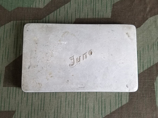 Vintage German 1930s / 1940s Juno Large Cigarette Tin