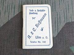 Vintage German Advertising Notebook Hoffmann Tuch & Buckskin