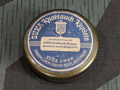Vintage German Süka Knoblauch Garlic Capsule Tin