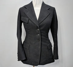 Vintage 1910s 1920s 1930s German Franz Kroha Black Jacket