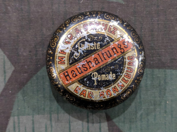 Vintage 1910s / 1920s WWI German Pomade Hair Cream Tin