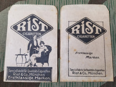 Vintage 1920s German Rist Cigarette Sales Bag