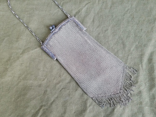 Vintage 1920s Whiting & Davis Mesh Handbag Flapper Purse