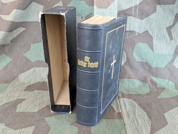 Vintage 1930 German Holy Bible New and Old Testament Evangelical