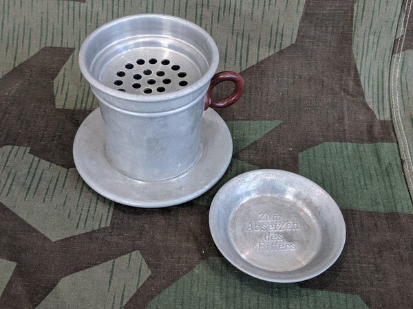 Vintage 1930s / 1940s German Aluminum Coffee Funnel
