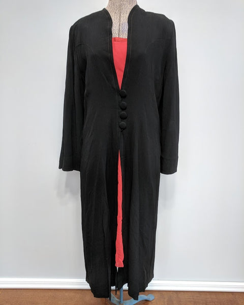 "German Black Jacket & Red/Orange Slip Dress <br> (B-36"" W-33"" H-44"")"