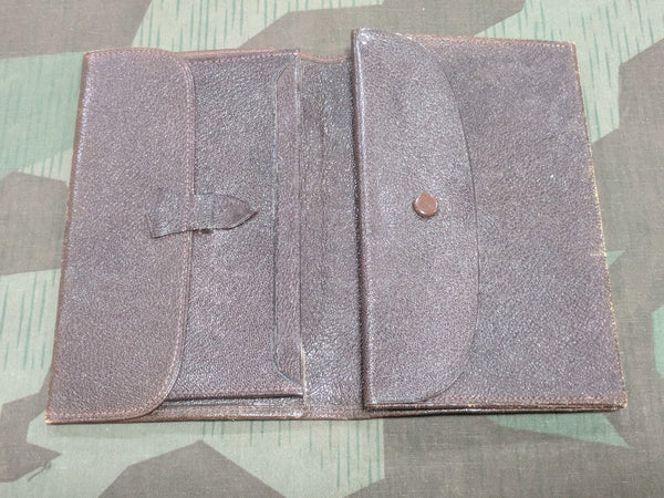 Vintage 1930s / 1940s German Brown Leather Wallet