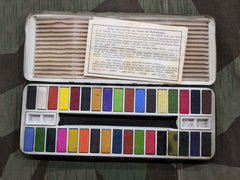 Vintage 1930s / 1940s German Large Water Color Paint Set Unused