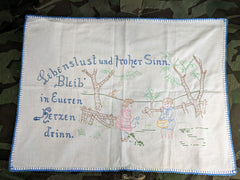 "Vintage 1930s 1940s German ""Lust for Life"" Linen"