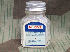 Vintage 1930s / 1940s Nicyl French Medicine Bottle