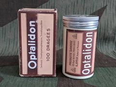 Vintage 1930s 1940s Optalidon French Medicine Bottle in Box
