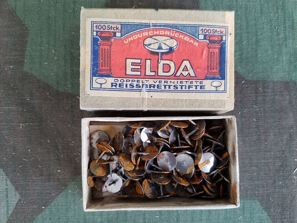Vintage 1930s / 1940s WWII-era German Elda Thumb Tacks AS-IS