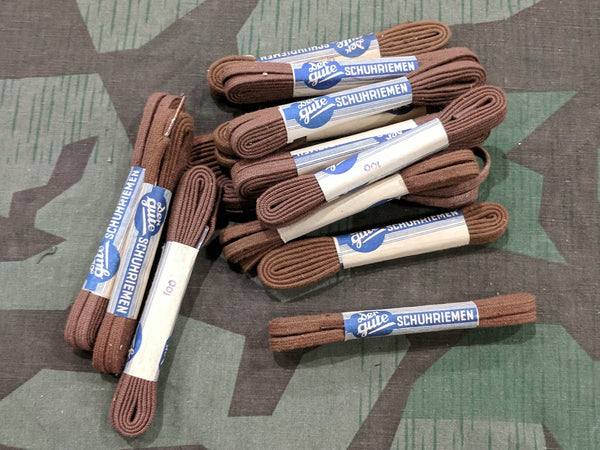 Vintage 1930s / 1940s WWII German Brown Shoe Laces 100cm