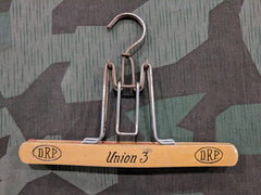 Vintage 1930s / 1940s WWII German DRP Pants Hanger Wooden - Union 3
